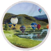 Soaring Over Colorado Round Beach Towel
