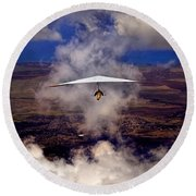 Soaring Through The Clouds Round Beach Towel