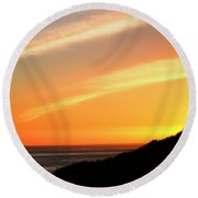 Round Beach Towel featuring the photograph Socal Sunet by Clayton Bruster