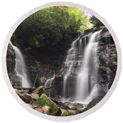 Soco Falls-landscape Version Round Beach Towel