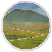 Soda Lake Road Round Beach Towel