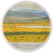 Soda Lake To Caliente Range Round Beach Towel