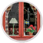 Soderkoping Window Round Beach Towel