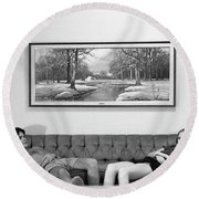 Sofa-sized Picture, With Light Switch, 1973 Round Beach Towel