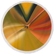 Soft Abstract Round Beach Towel