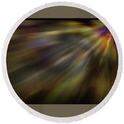 Soft Amber Blur Round Beach Towel