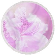 Soft And Lovely Pink Rhododendrons  Round Beach Towel