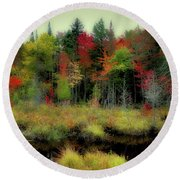 Round Beach Towel featuring the photograph Soft Autumn Color by David Patterson