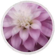 Soft Dahlia  Round Beach Towel