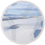 Soft Enchantment Round Beach Towel by Vivian Christopher
