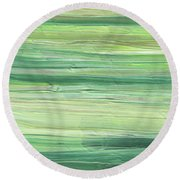Soft Green Organic Abstafor Interior Decor Viii Round Beach Towel