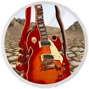 Soft Guitar Round Beach Towel
