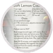 Soft Lemon Cookie Recipe Round Beach Towel