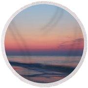 Soft Pink Sunrise Round Beach Towel