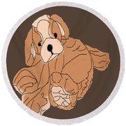 Round Beach Towel featuring the digital art Soft Puppy by Jayvon Thomas
