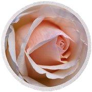 Soft Rose Round Beach Towel by Joy Watson