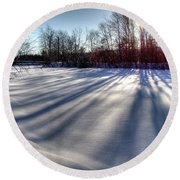 Soft Shadows Round Beach Towel