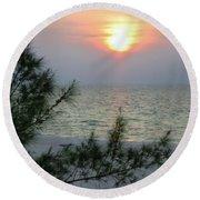Soft Sunset Round Beach Towel