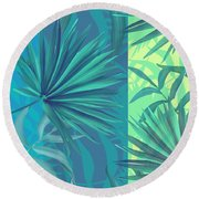Soft Tropic  Round Beach Towel