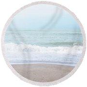 Soft Waves 2- Art By Linda Woods Round Beach Towel