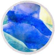 Softly Iris Round Beach Towel