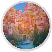 Sogni Di Italia. Round Beach Towel by Joe Gilronan