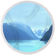 Round Beach Towel featuring the photograph Sojourn by John Poon