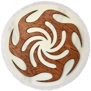 Sol Seven, Fire And Water Round Beach Towel