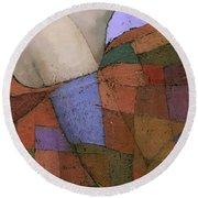 Solace Detail Round Beach Towel