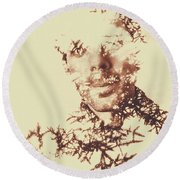 Solace Of Spirit Within Round Beach Towel