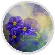 Solanum Round Beach Towel