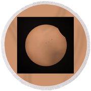 Solar Eclipse 1309 Round Beach Towel