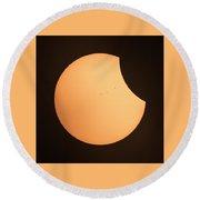 Solar Eclipse 2017 1320 Round Beach Towel
