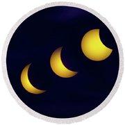 Solar Eclipse 2017 Round Beach Towel