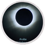 Solar Eclipse Aruba 1998 Round Beach Towel