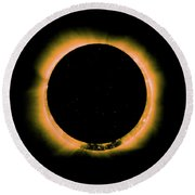 Solar Eclipse By Hinode Observes, Nasa 5 Round Beach Towel