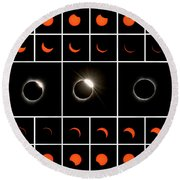Solar Eclipse Composite Round Beach Towel