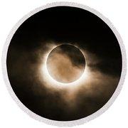 Solar Eclipse II Round Beach Towel
