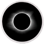 Solar Eclipse Ring Of Fire Round Beach Towel