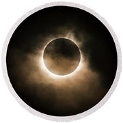 Solar Eclipse Round Beach Towel