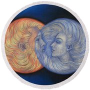Solar Eclipse Round Beach Towel
