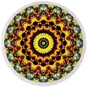 Solar Flare 2 Round Beach Towel by Wendy J St Christopher