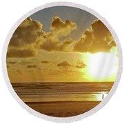 Solar Moment Round Beach Towel