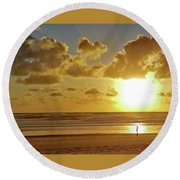Solar Moment Round Beach Towel