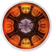 Solar Worship Round Beach Towel by Az Jackson