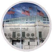 Soldier Field Round Beach Towel