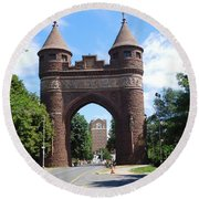 Soldiers And Sailors Memorial Arch Round Beach Towel