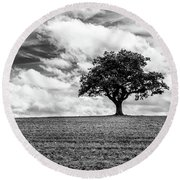 Majestic Oak Round Beach Towel