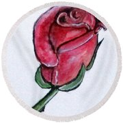 Solitary Rose Round Beach Towel