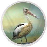 Solitary Round Beach Towel by Wallaroo Images
